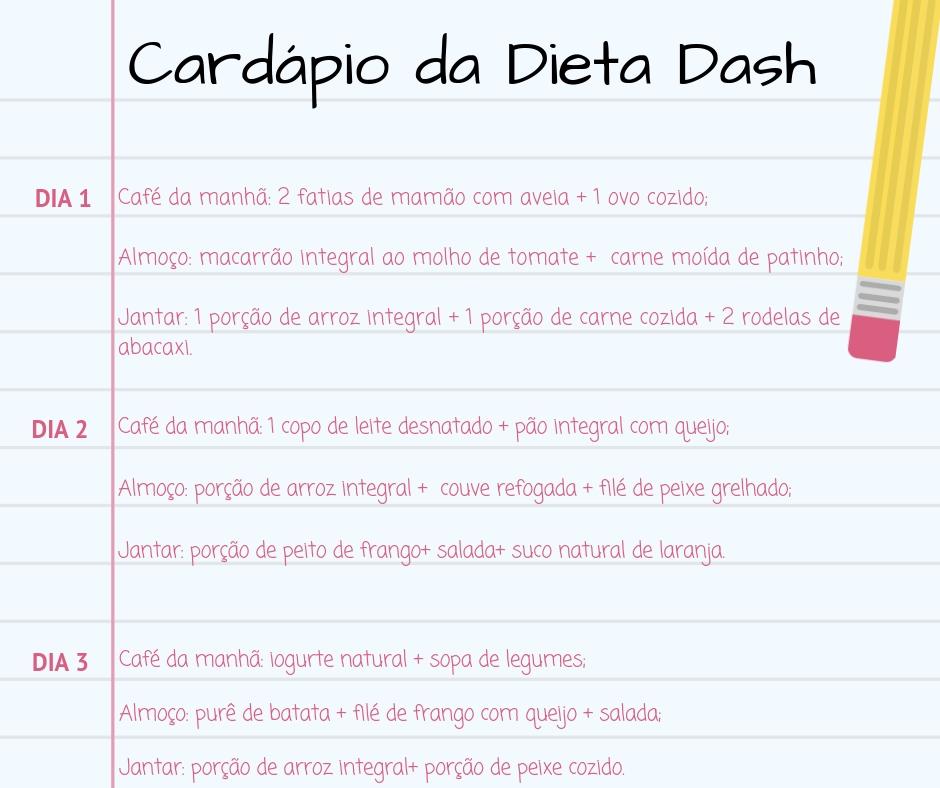Dieta Dash - Alimentos permitidos e cardápio pronto